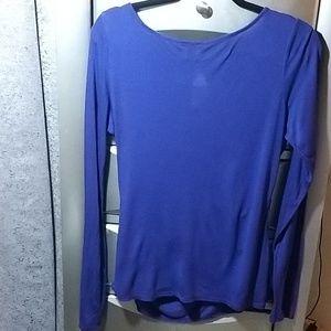Anne Klein Tops - Anne Klein Purple open in front blouse